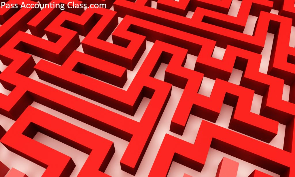 Simple red maze
